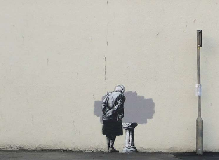 The Art Buff piece created by Banksy in 2014
