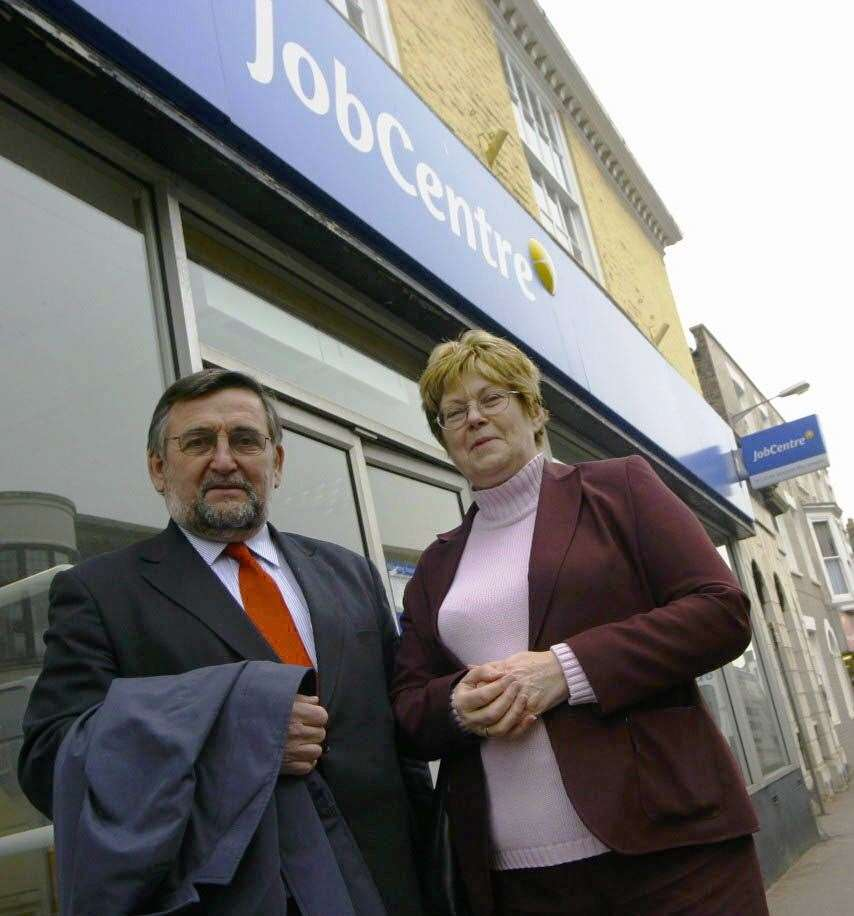 The building used to be the job centre, with Deal MP Gwyn Prosser and Cllr Sue Delling pictured outside in 2009 (Picture: Jo Knight)