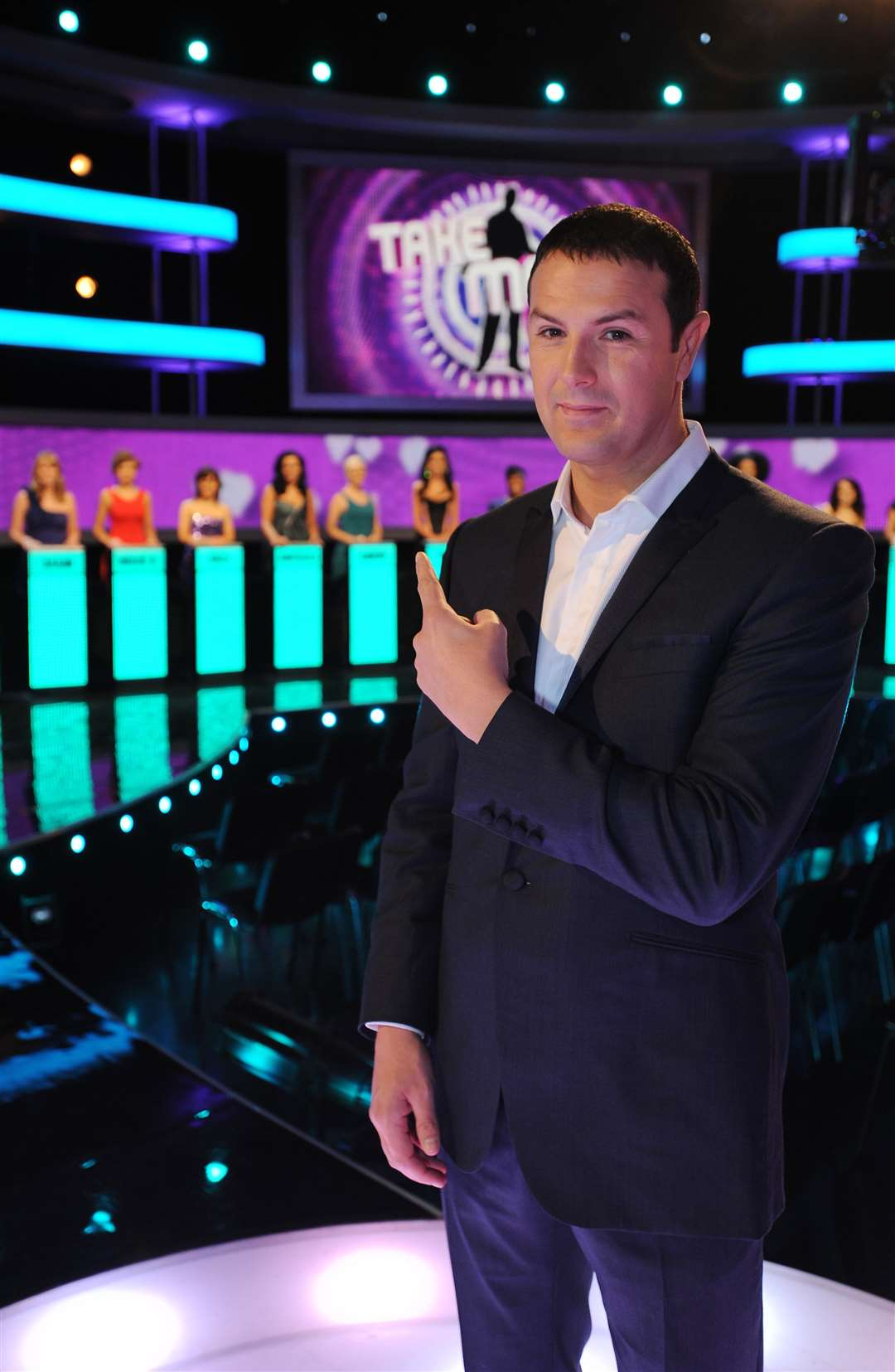 Paddy McGuinness, presenter of Take Me Out, filmed at Maidstone Studios. Credit: Talkback Thames