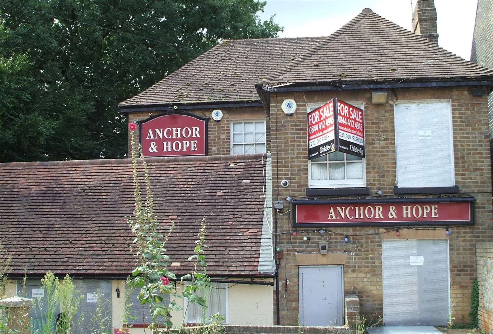 The Anchor and Hope in Maidstone shut its doors in 2010