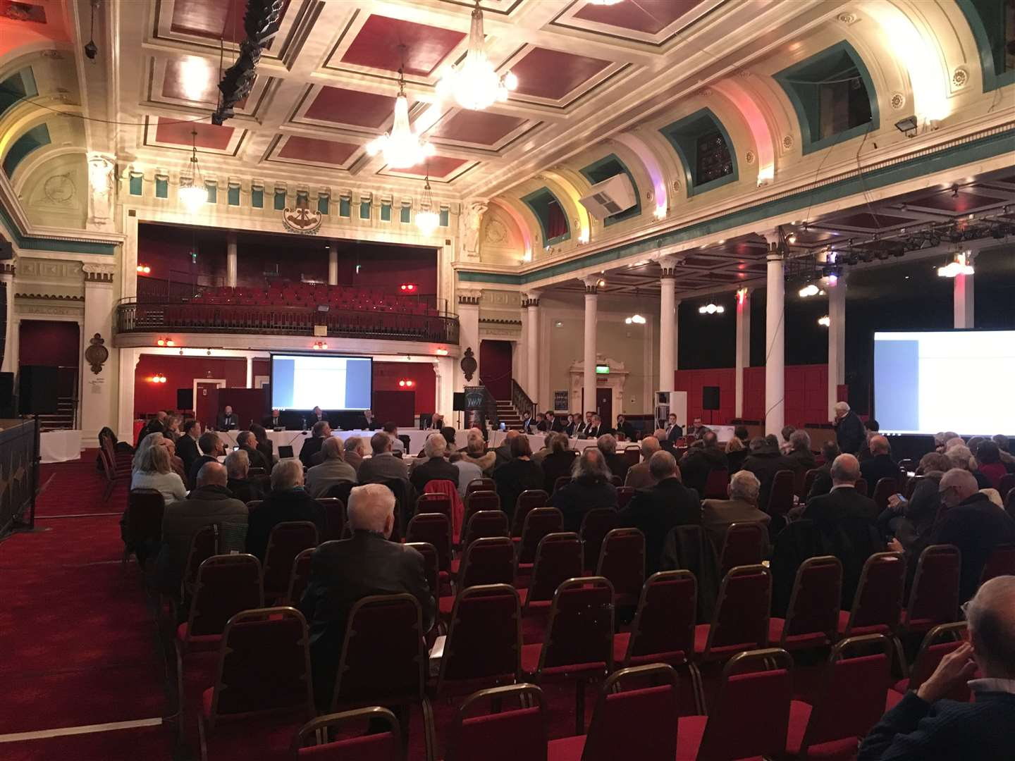 Around 150 people attended the outline hearing setting out the future of Manston Airport on January 9 at the Margate Winter Gardens