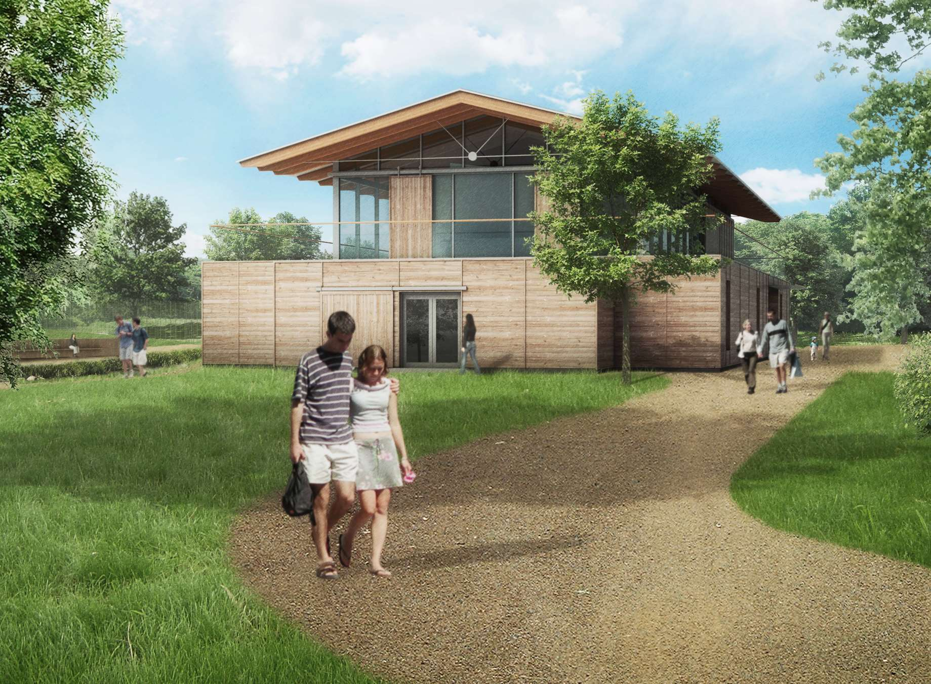 Artists impressions for how a new sports hub on the site of the former Herne Bay Golf Club will look. Quinn Estates
