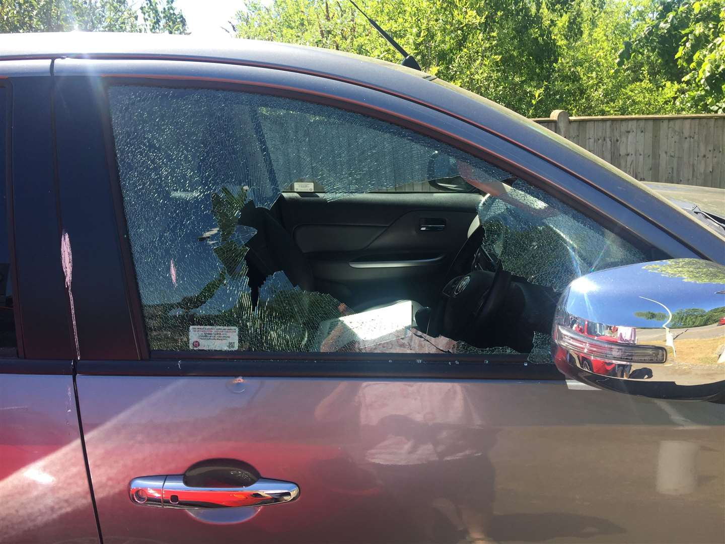 Three vehicles were damaged over the two nights of attacks