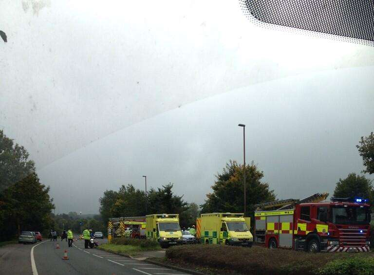 Elderly Pair Taken To Hospital After Crash On A20 London