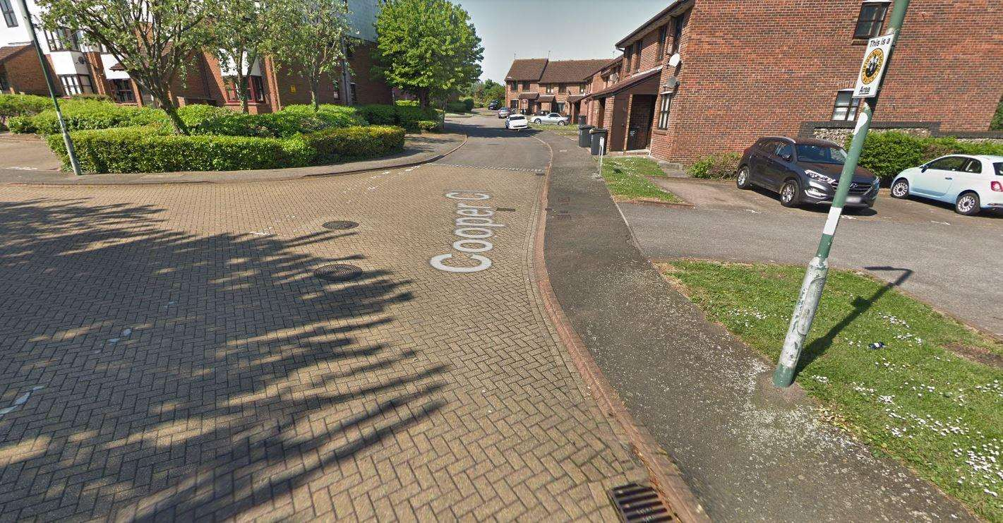 Police are investigating an alleged assault in Cooper Close, Greenhithe. Picture: Google Maps (7200886)