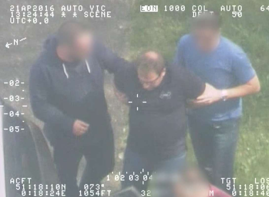 Officers arrest suspect at Redhill. Picture: National Crime Agency