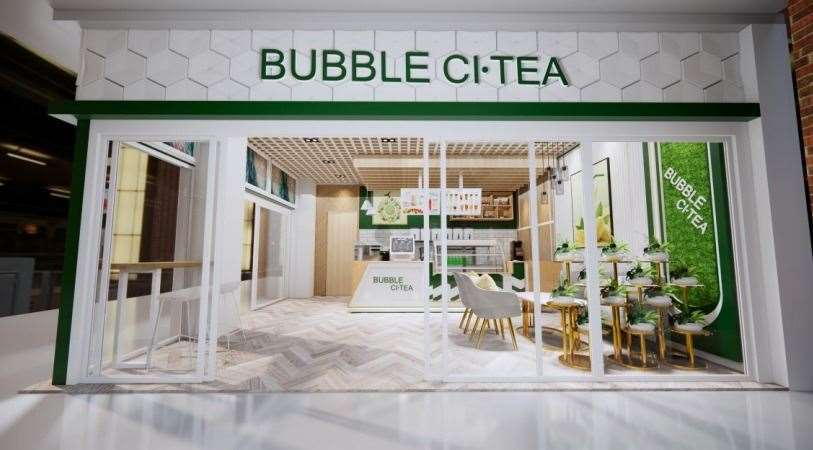 How the Bubble Ci-Tea store is proposed to look