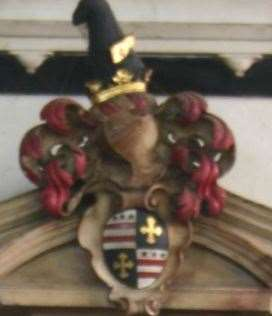 Lawrence Washington's coat of arms, displayed in All Saints Church in Maidstone, is said to be the inspiration for the American flag