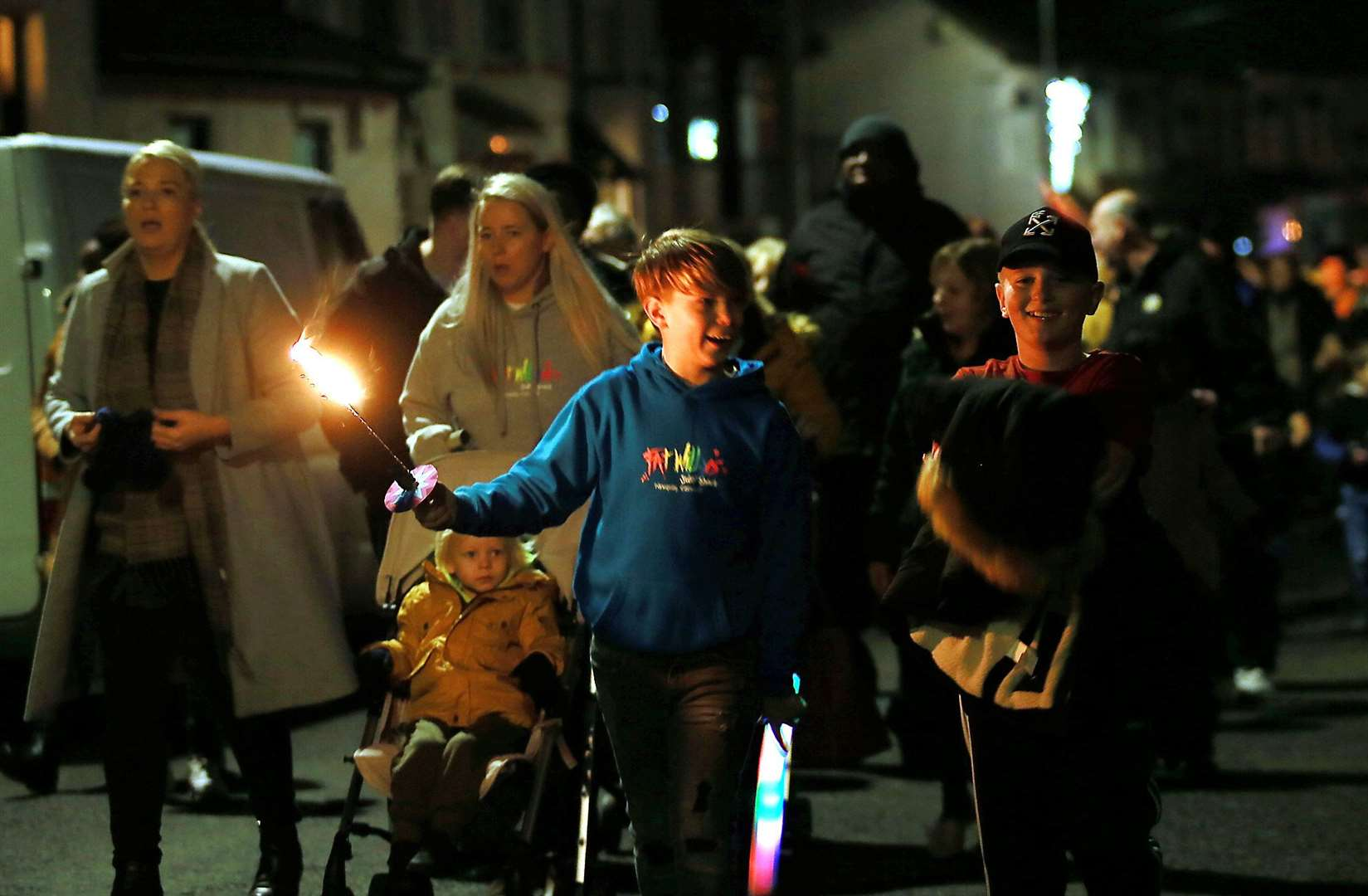 Thousands of families descended on Queenborough on Sunday for the town's annual lantern parade. Picture: Phil Lee