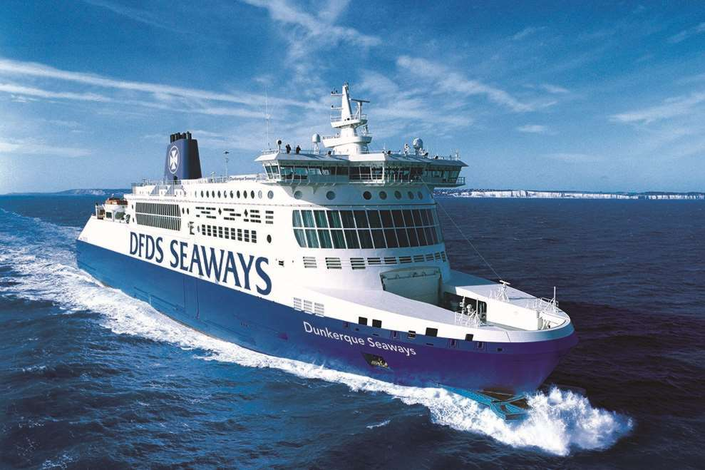DFDS offers several crossings to Dunkirk, with a journey time of around two hours.