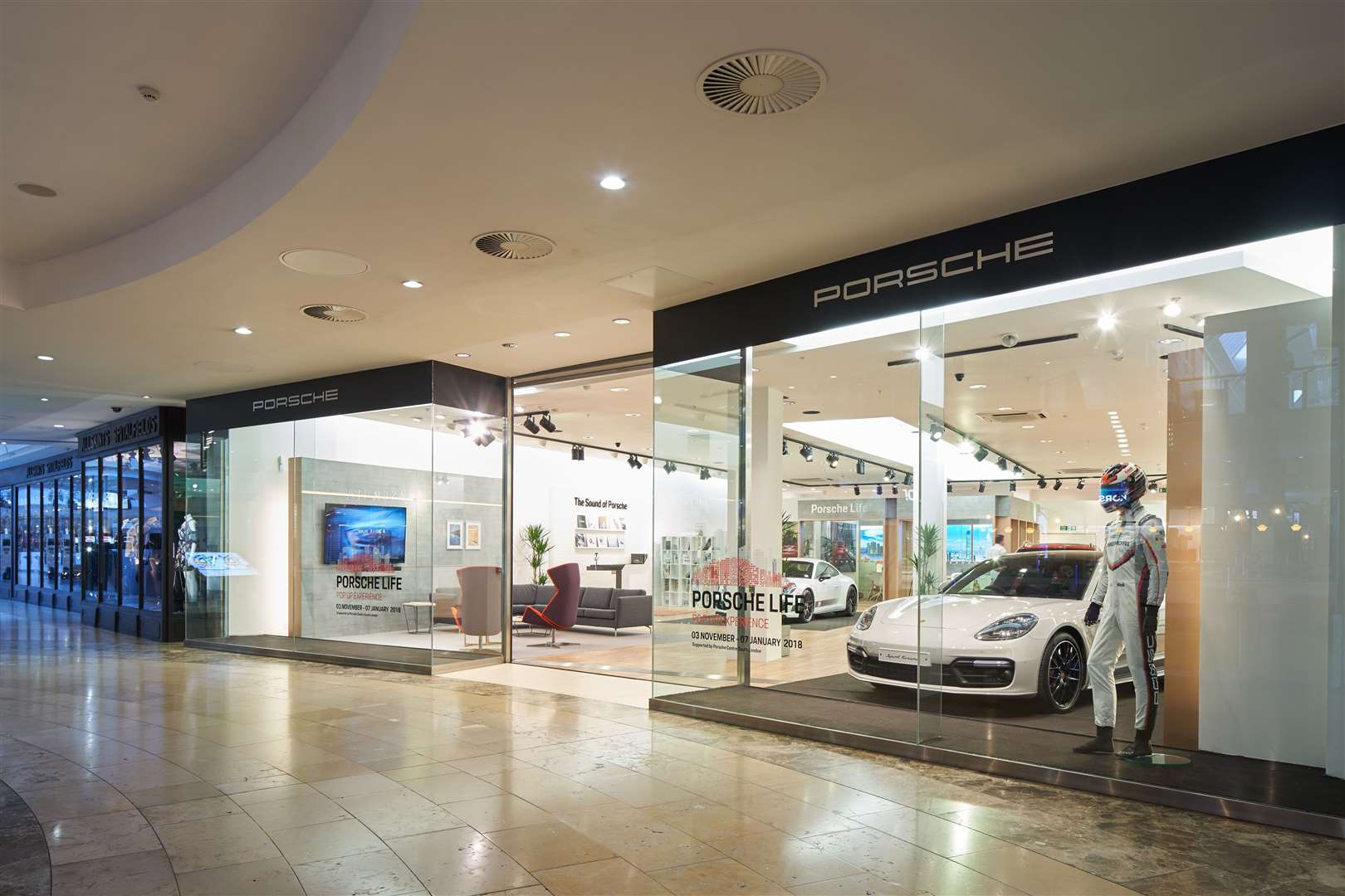 chapel down and porsche pop up stores open at bluewater. Black Bedroom Furniture Sets. Home Design Ideas