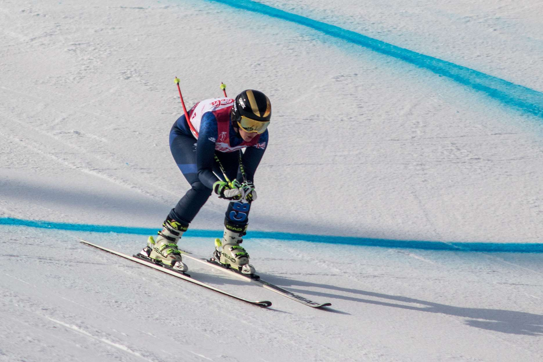 Millie Knight in action at the Winter Paralympics