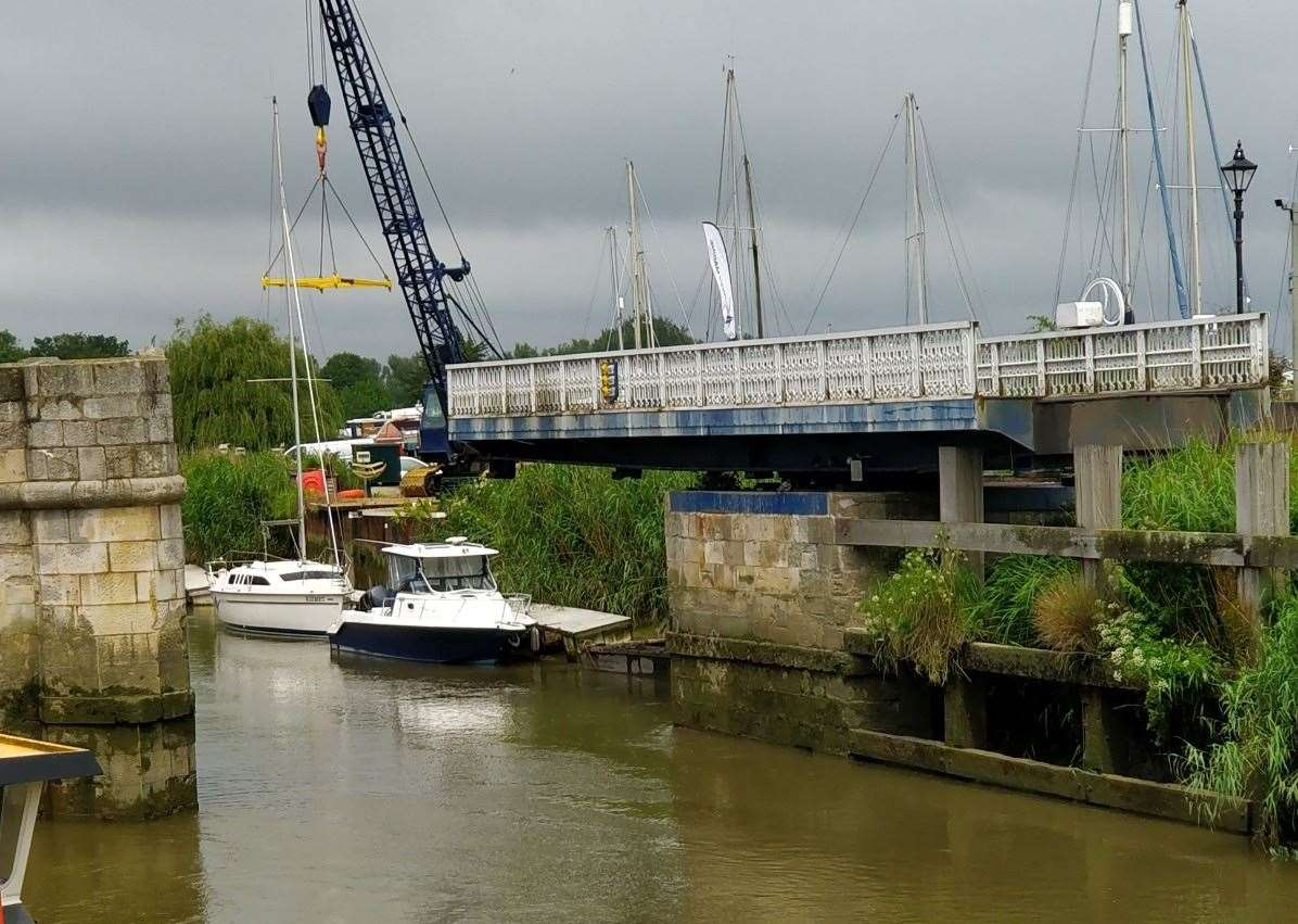 Sandwich Tollbridge was unable to close after its opened to let a vessel pass through on June 9