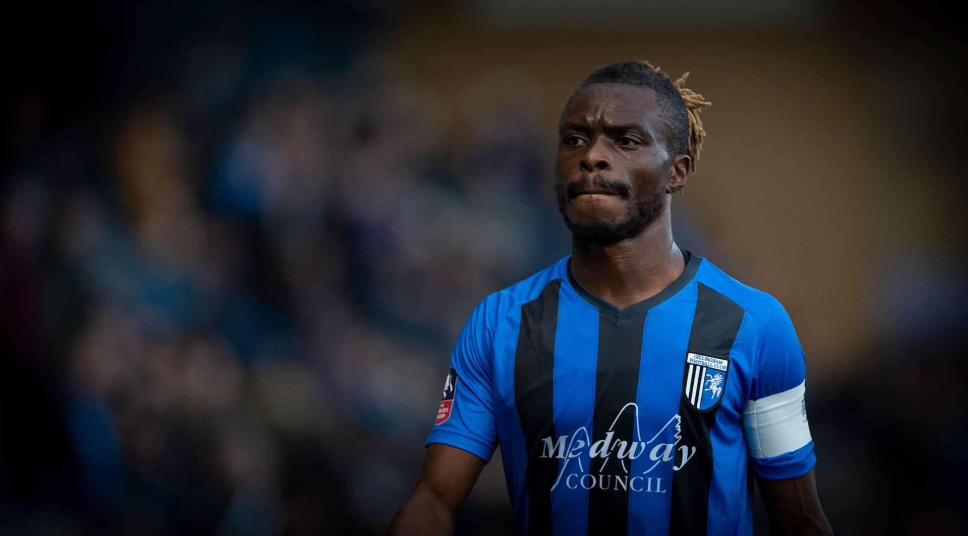 Gabriel Zakuani has agreed to leave Gillingham Picture: Ady Kerry