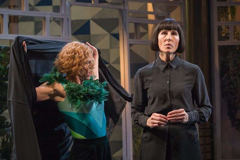 National Theatre Live's Twelfth Night, with Tamsin Greig (right)Picture: Marc Brenner