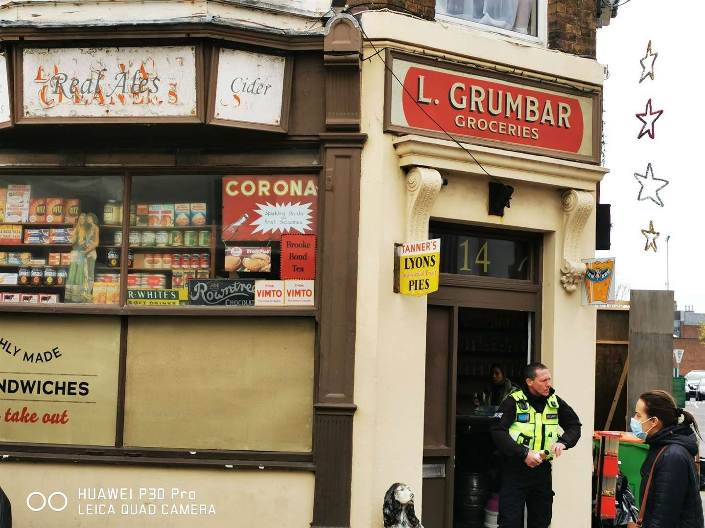 The Just Reproach micropub is now a corner shop - just for filming