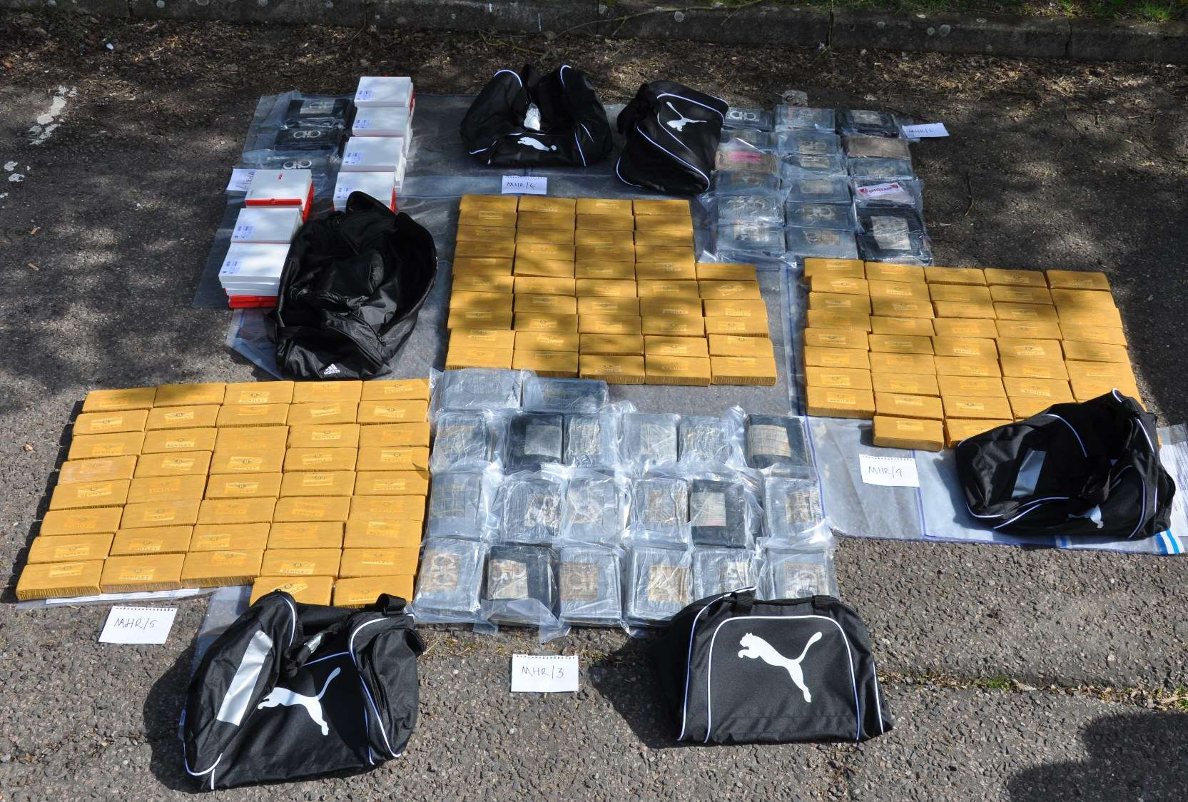 The haul recovered. Picture: National Crime Agency