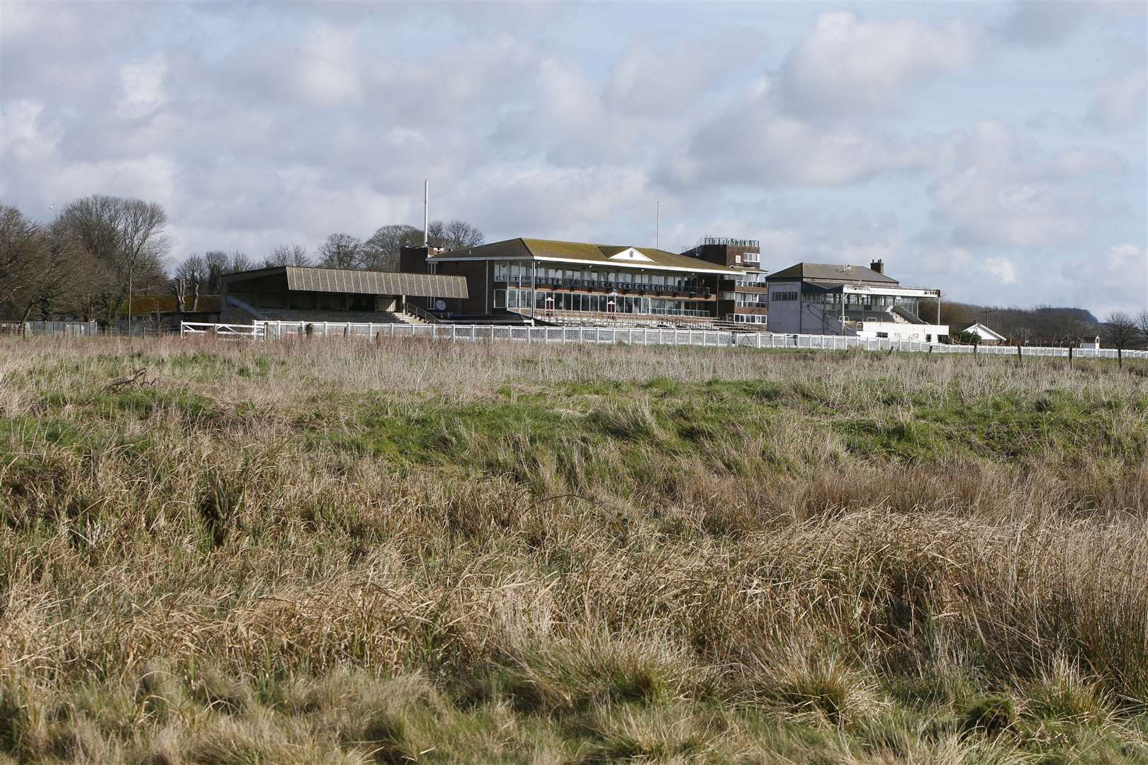 Land at the former Folkestone Racecourse will be used for Otterpool. Picture: Andy Jones
