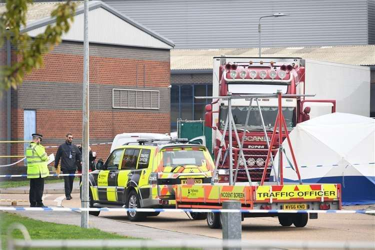 The 39 migrants were found dead in a lorry container in Essex. Picture: UKNIP