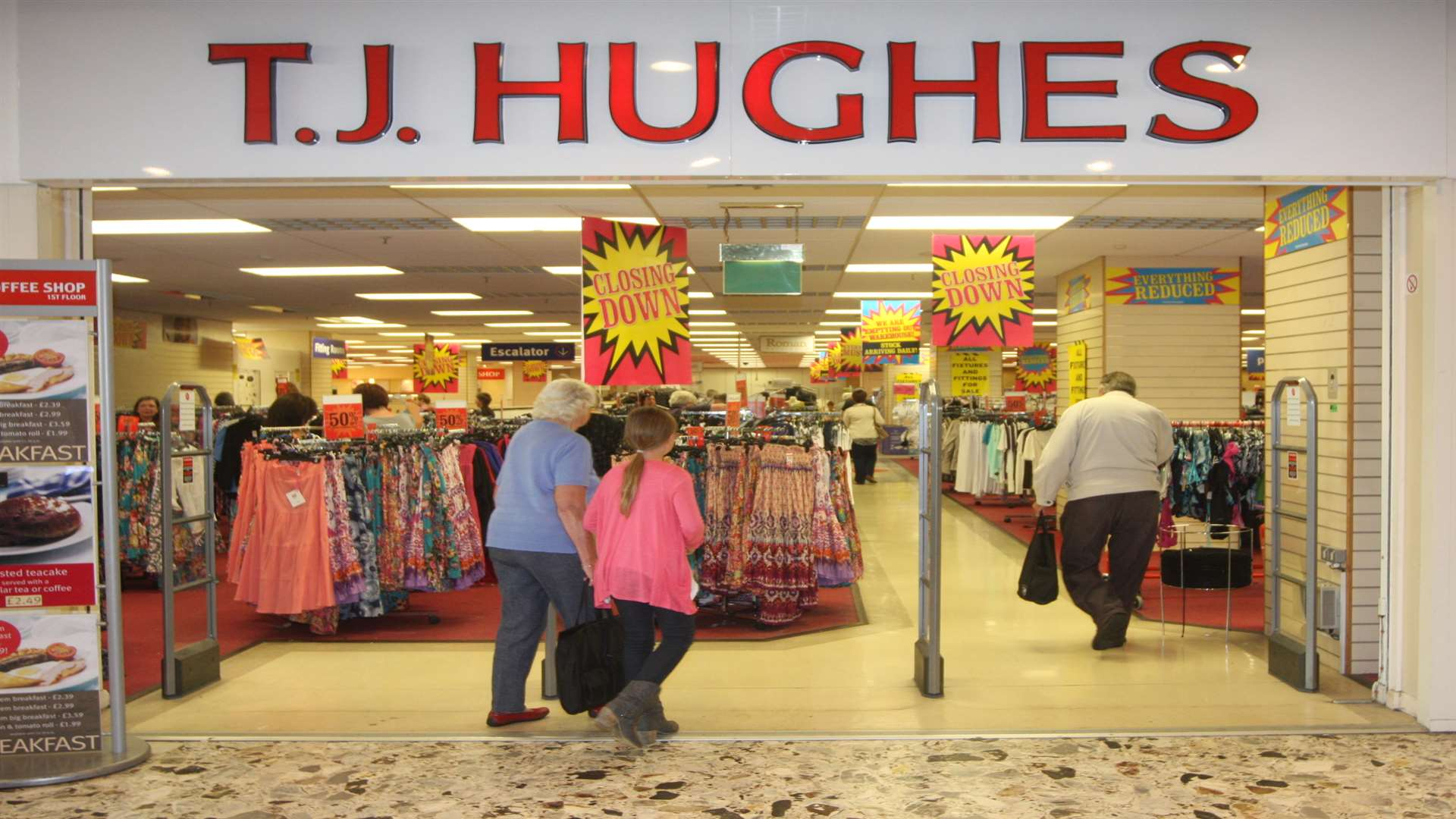 TJ Hughes store in the Mall, Maidstone, just before it closed in 2011