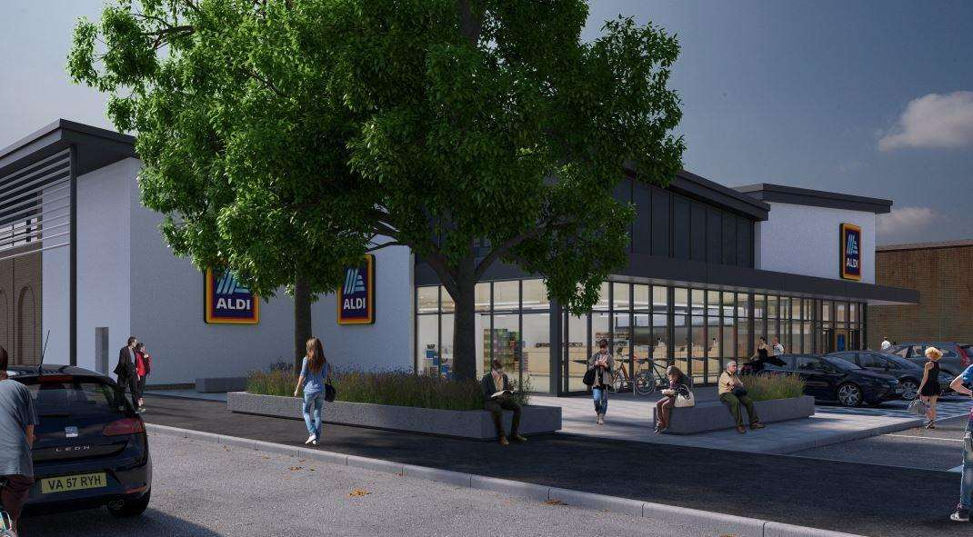 An artist impression for the proposed new Aldi store in Deal (6169263)