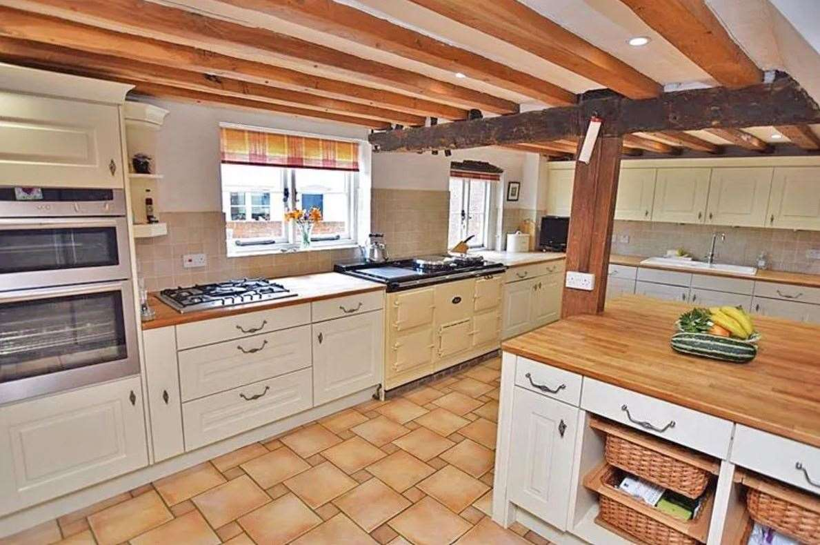 The kitchen has an Aga range cooker. Picture: Zoopla / Ferris & Co