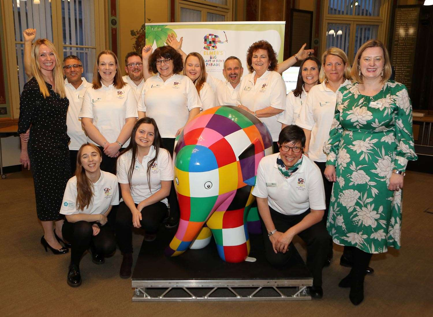 The Heart of Kent Hospice team with the Elmer model