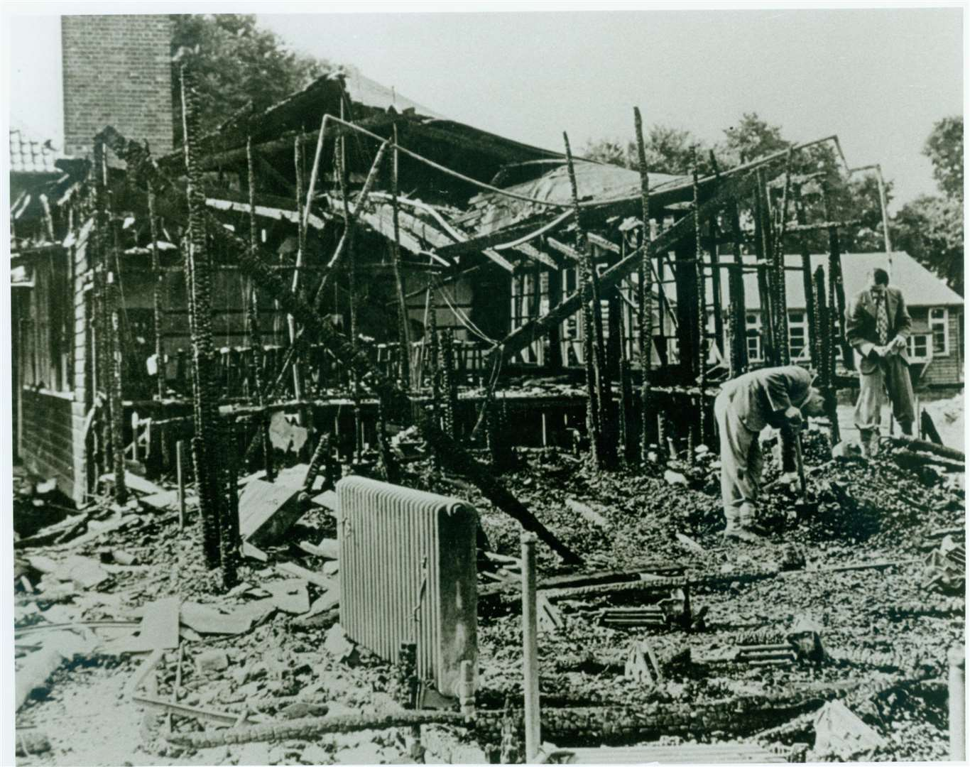 Colyer Road School after it was hit by a bomb during an air raid, destroying a classroom used for woodwork and metalwork. Picture: Gravesend Library (6705061)