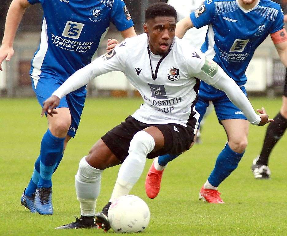 Darren McQueen continued his run of form in front of goal against Tonbridge. Picture: Phil Lee