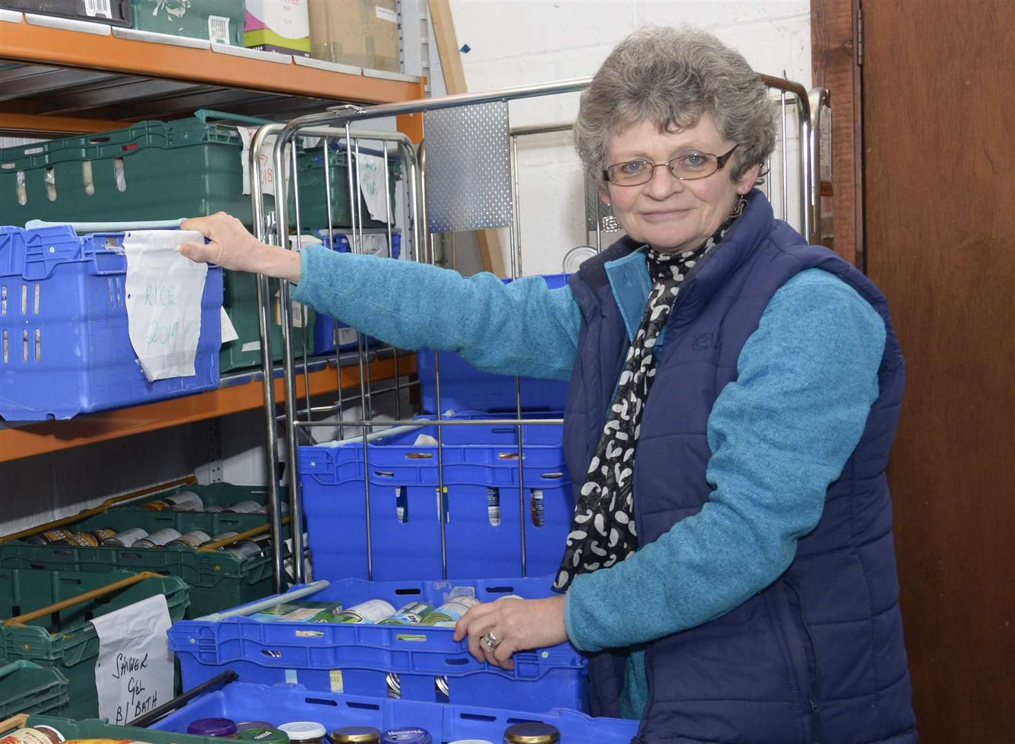 Project co-ordinator Sheila Ward at the Deal Foodbank. Picture: Chris Davey