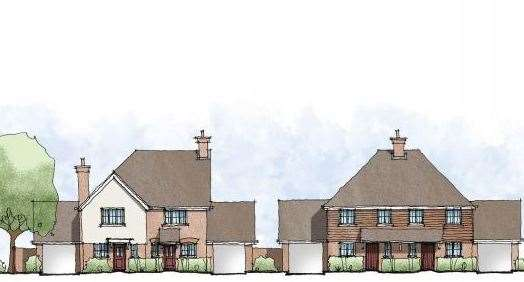 How the houses might look if the development gets approval. Picture: On Architecture/NHS Property Services
