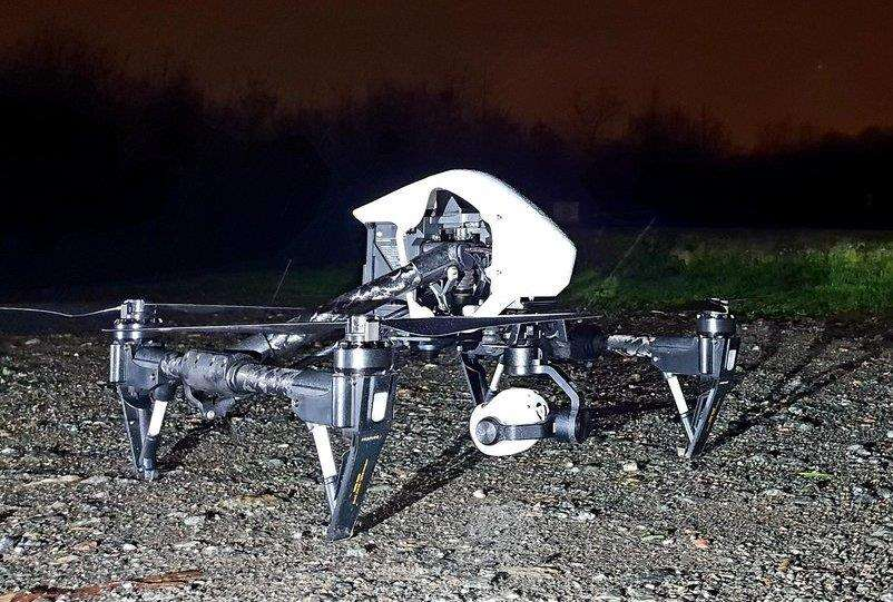 Police launched a drone to help find the missing woman, picture @kentpoliceroads