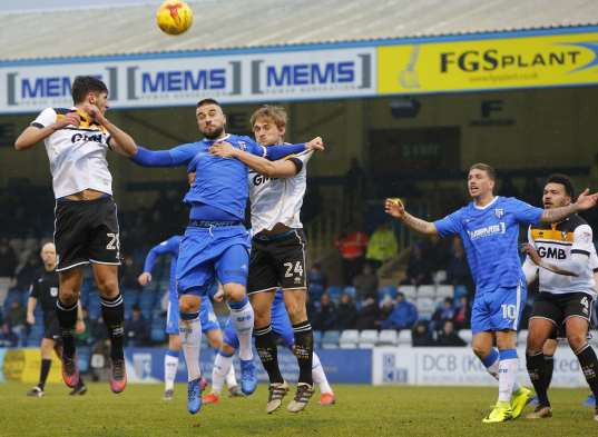 Match action from Priestfield Picture: Andy Jones