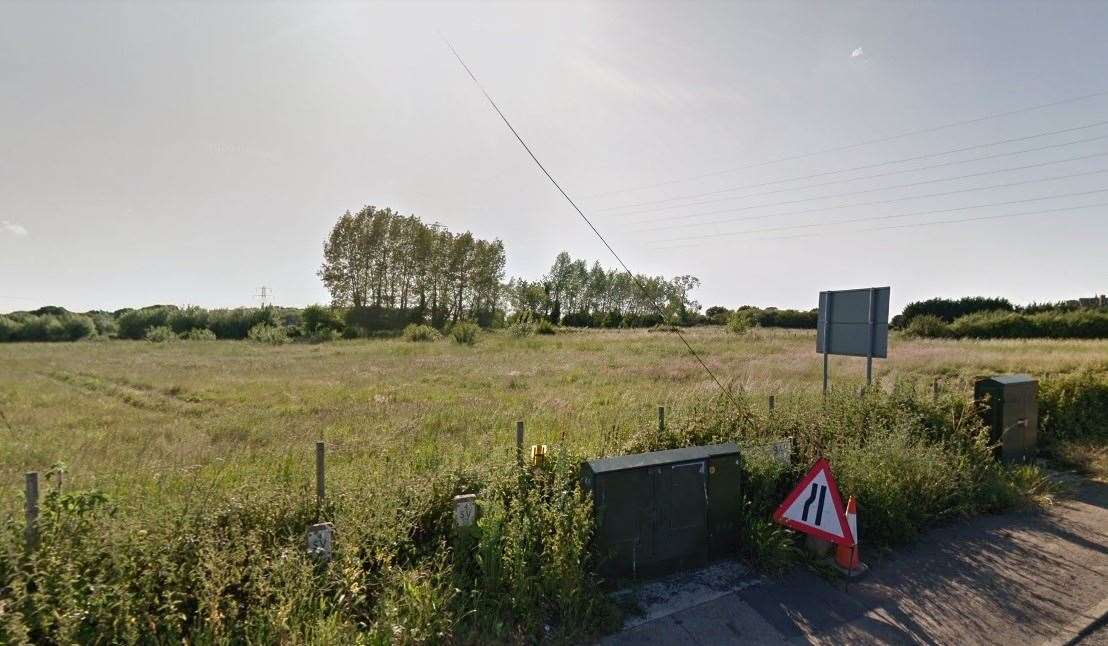Land in Broad Oak where some of the homes could be built. Picture: Google Street View
