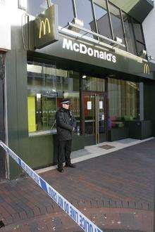 McDonald's in Chatham High street - following a robbery last year