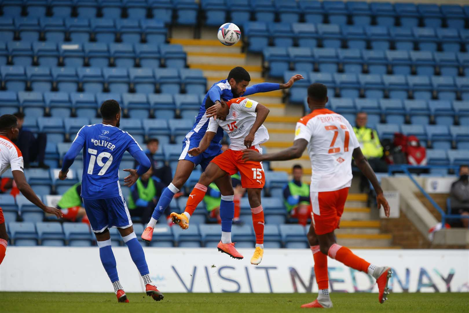 Gillingham beat Blackpool 2-0 earlier in the season.Picture: Barry Goodwin