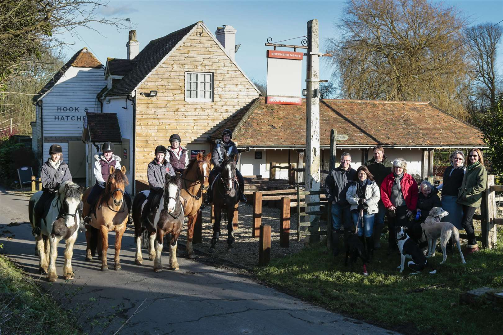 Villagers and business owners who are pulling together to buy the pub