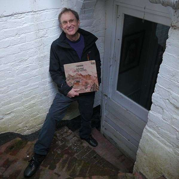 Dave Sinclair with his new album outside the basement apartment where he created his early music for Caravan