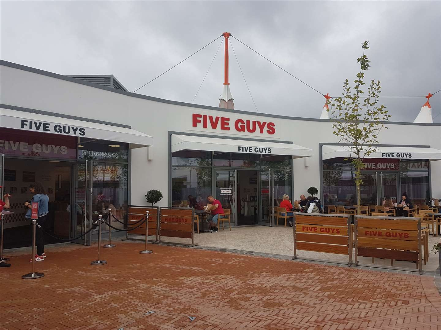 Five Guys has opened at Ashford Designer Outlet