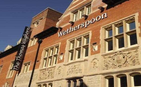 Wetherspoon has pubs across the county - including this one in Chatham