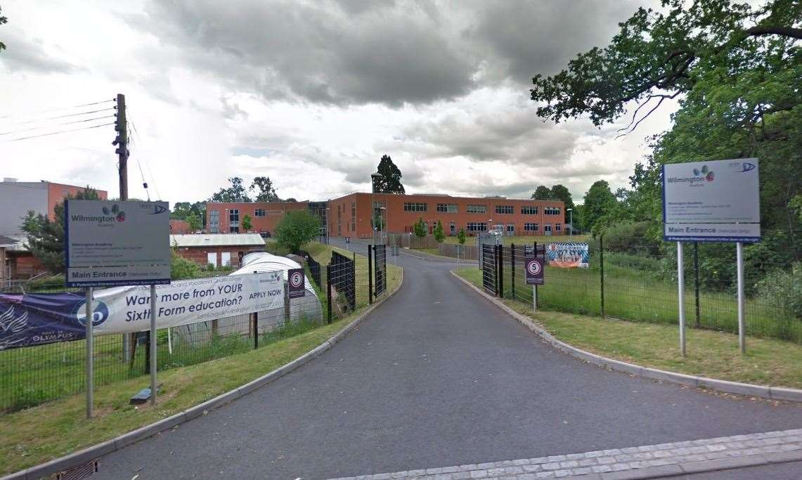 A year ten pupil has tested positive for coronavirus at Wilmington Academy in Dartford. Photo: Google