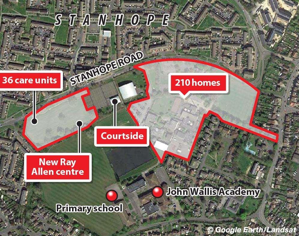 Plans for hundreds of homes on land next to John Wallis ...