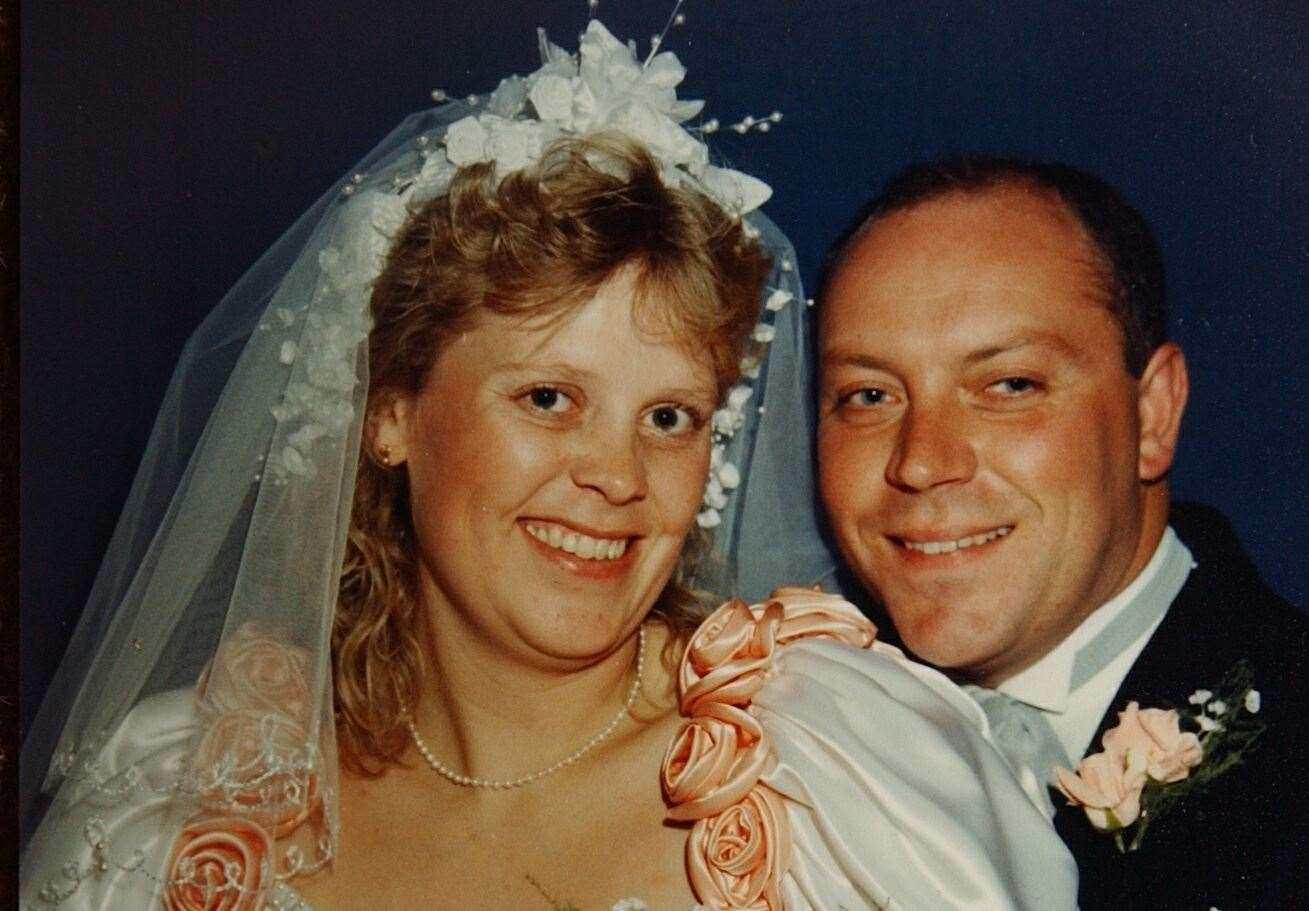 Debbie Griggs on her wedding day in September 1990