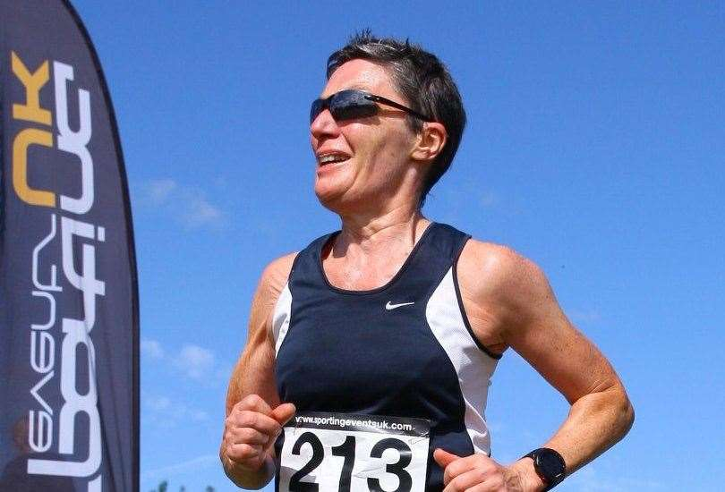 South Kent Harriers' Margaret Connolly took part in the A&D Lockdown League for the first time and finished second
