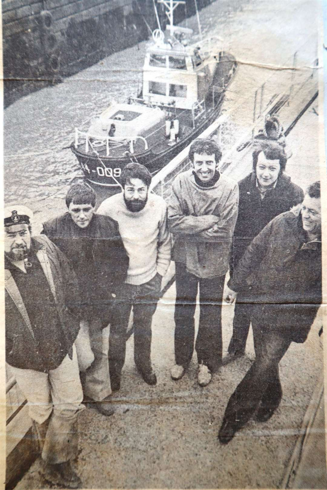 Sheerness RNLI lifeboat crew, from the left, Charlie Bowry, Arthur Lukey, Ricky Underhill, Ian McCourt, Les Edwards and Malcolm Keen. Picture: Sheerness Times Guardian