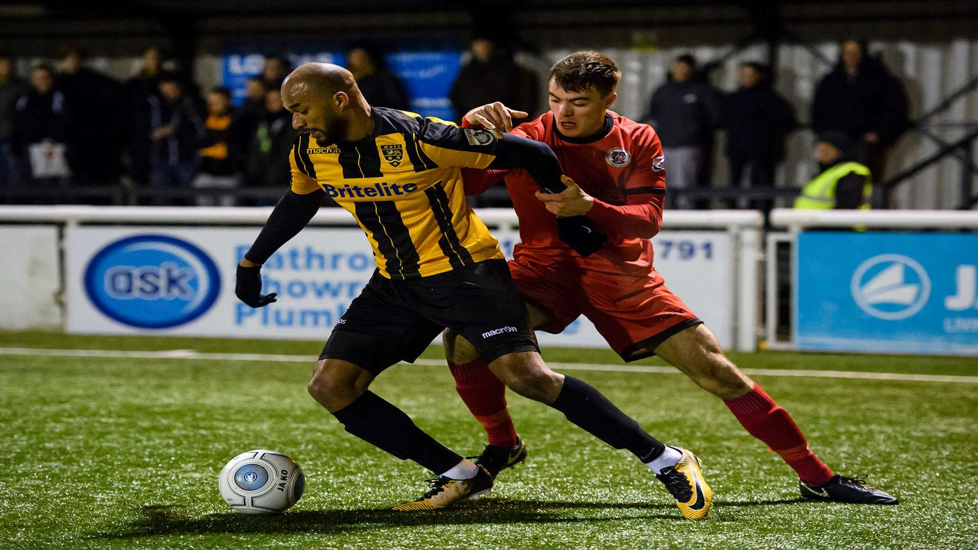Delano Sam-Yorke on the ball for Maidstone Picture: Andy Payton