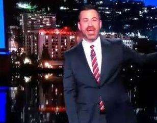 Jimmy Kimmel reporting on Cameron's piece (2070776)