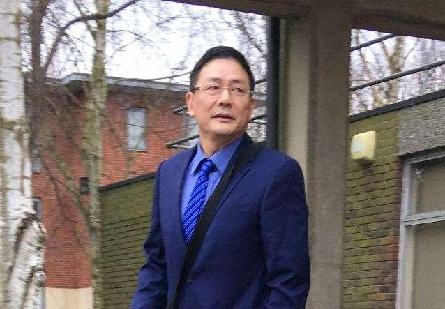 David Wen leaves Sevenoaks Magistrates' Court