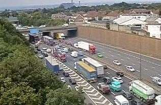 Drivers are facing lengthy delays after a crash on the M25. Picture: Highways England (12978916)