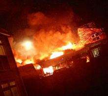 Flames erupt from DIY store Start to Finish in Gravesend